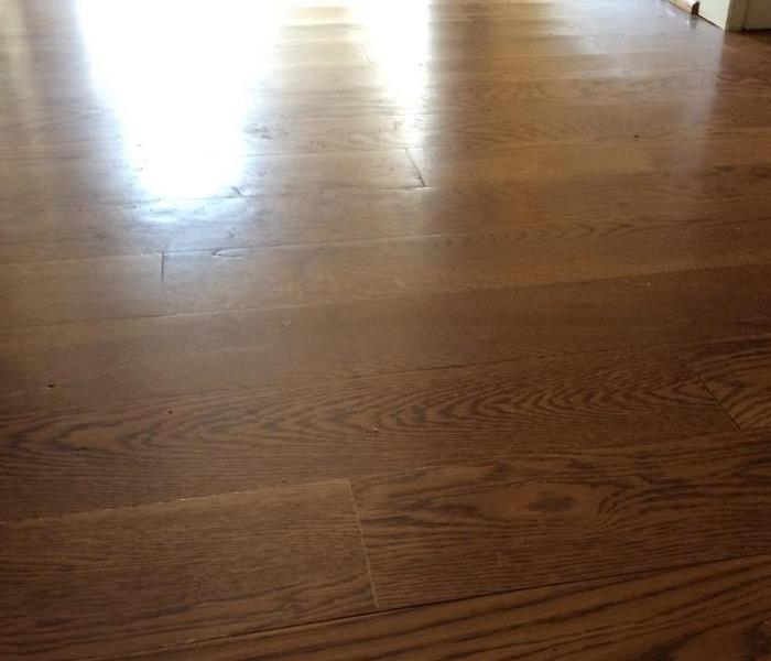 Water Damage to Hardwood Causing Cupping After