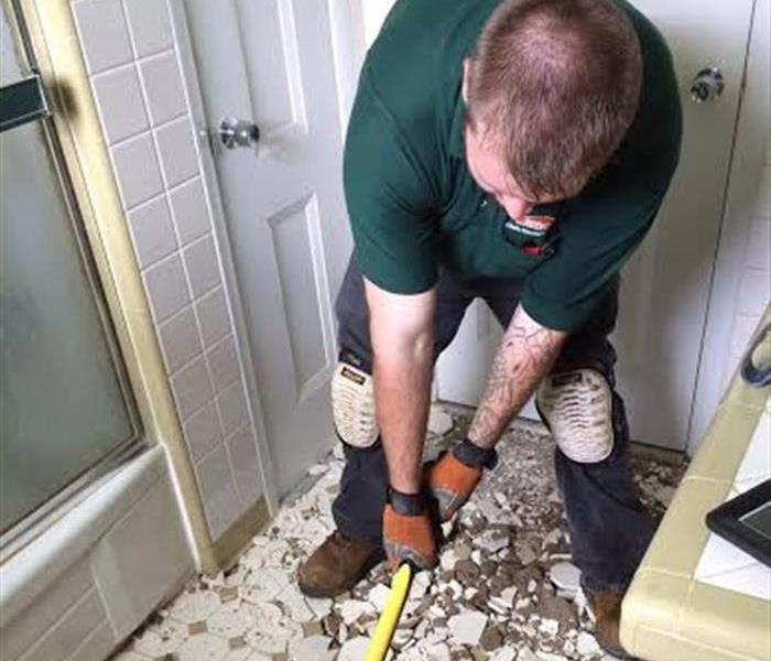 Removing tile floor