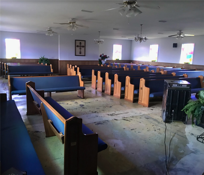 Cleaning Up Water Damage at Local Church
