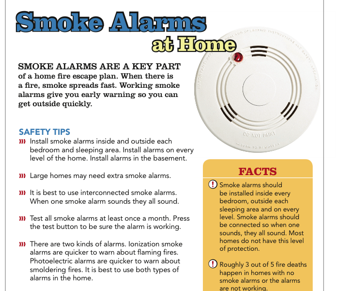 General Keep your family and home safe from fire damage by maintaining your smoke alarms