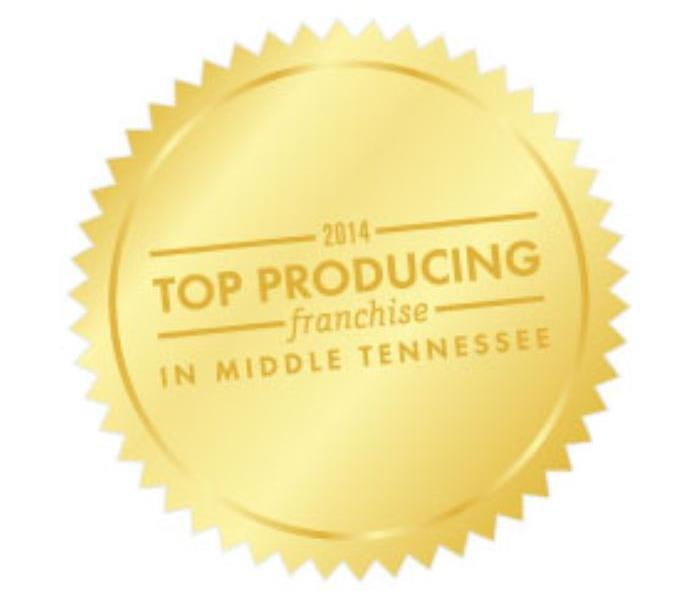 General SERVPRO of Belle Meade/West Nashville honored with award for the Top Producing Franchise in Middle Tennessee for 2014